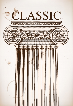 Classical column background Stock Vector - 22577514