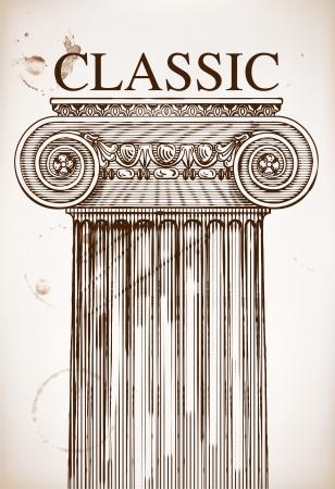 classical greece: Classical column background