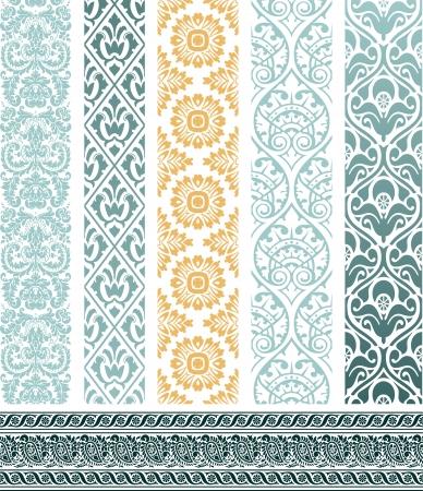 floral border: Design elements