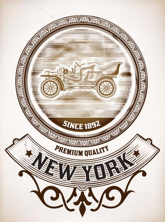 classic cars: Vector  Old Car design Illustration