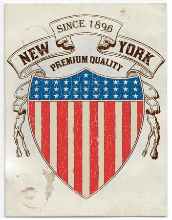 Vector  Vintage American label Vector