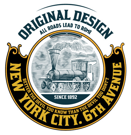 vintage label: Retro design