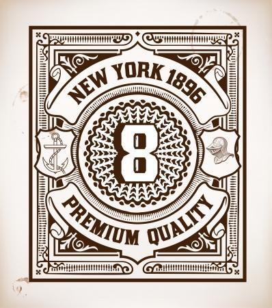 victorian frame: Retro stamp design