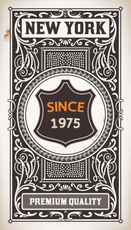 label frame: Vector  Vintage Design