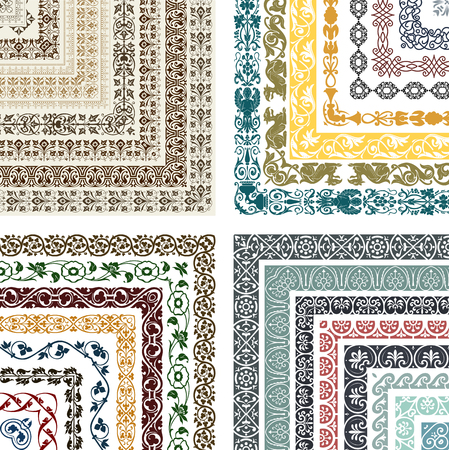 patchwork pattern: Retro lines set