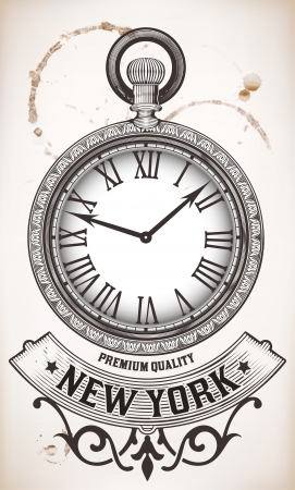 Pocket clock Illustration