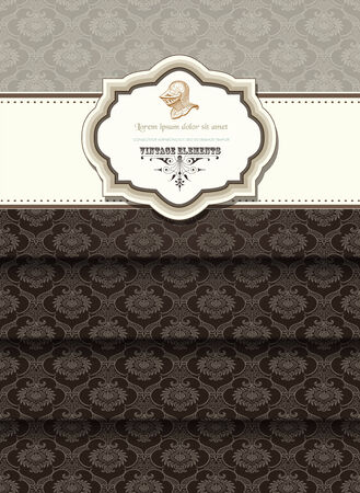 decorative border: Retro card
