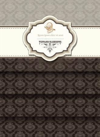 bordes decorativos: Tarjeta de Retro