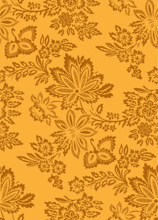 architectonic: floral seamless pattern Illustration