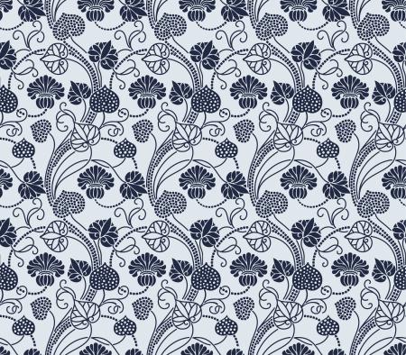 tsar: floral pattern Illustration