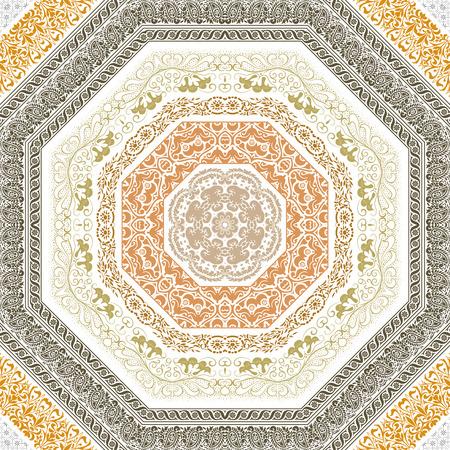 baroque frame: Retro lines