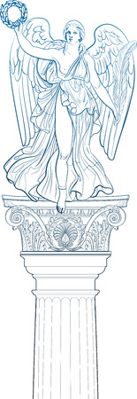 hellenistic: Angel Illustration