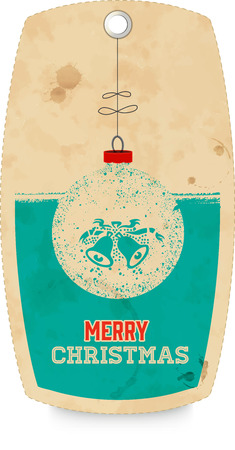 christmas motif: Decorative tag with christmas motif