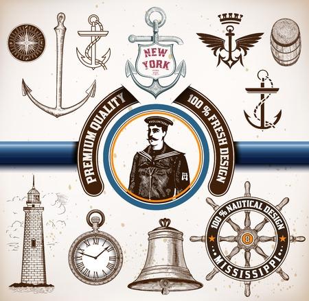 anchor man: Nautical elements.