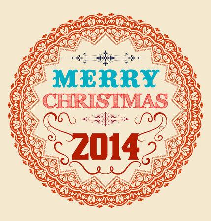 Vintage Christmas Card Design.