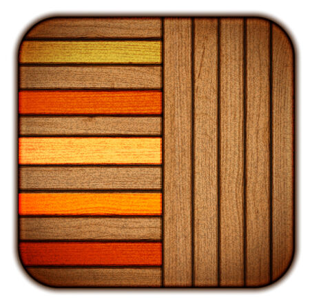 vector. Wooden icon. organized by layers Vector