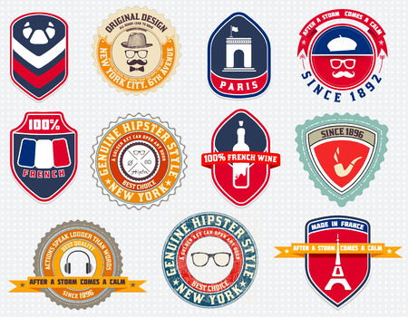 Badges set, labels and designs Vector