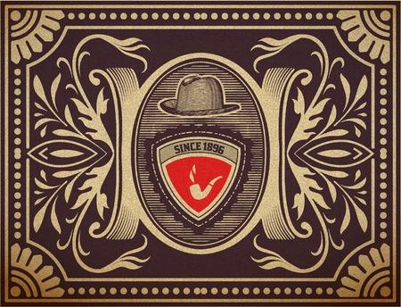 ephemera: Vector Hipster carta retr� Organizzato da strati