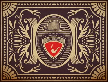 ephemera: Vector  Hipster retro card  Organized by layers