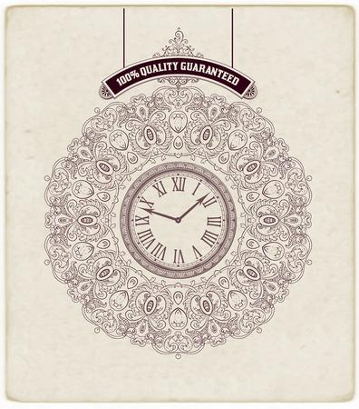 ephemera: Ornamenti Qualit� Carta barocchi Premium e dettagli floreali Old paper texture Organizzato da strati Vettoriali