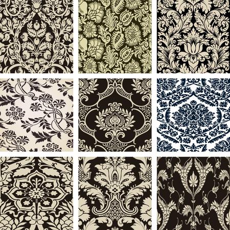patchwork pattern: Set damasko paterns