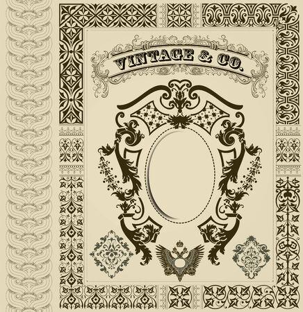 retro design elements: Retro design elements Illustration