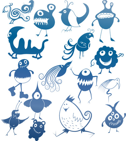 Bugs on white background   Vector