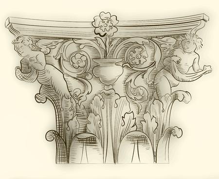 roman empire: Classic column sketch