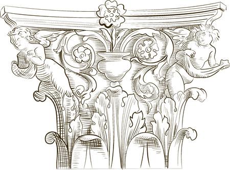 Classic column sketch