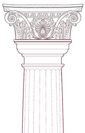 templo romano: Elementos de diseño - Columna antigua Vectores