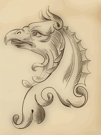 predatory: Vector head eagle Illustration