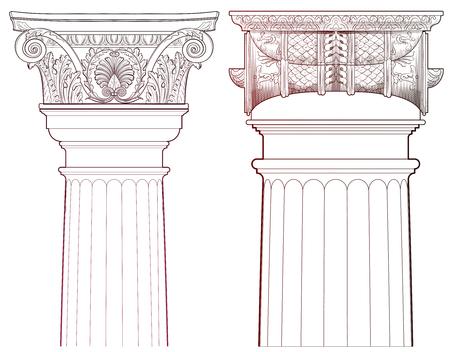roman empire: Design Elements - Ancient Column set