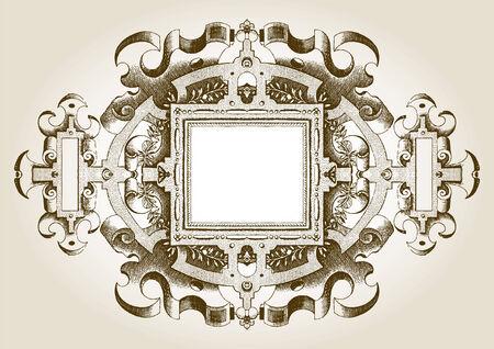 retro frame: Retro frame Illustration