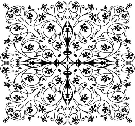 ornate swirls: Retro element