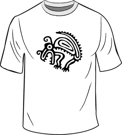indigene: T-shirt with mexican symbol