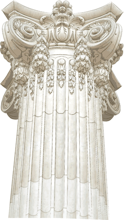 roman pillar: Classic column