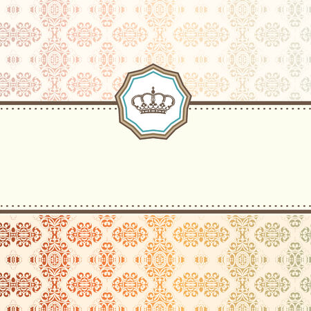 Baroque card Stock Vector - 29786423