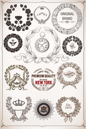 hoja de olivo: Corona de laurel de elementos de diseño