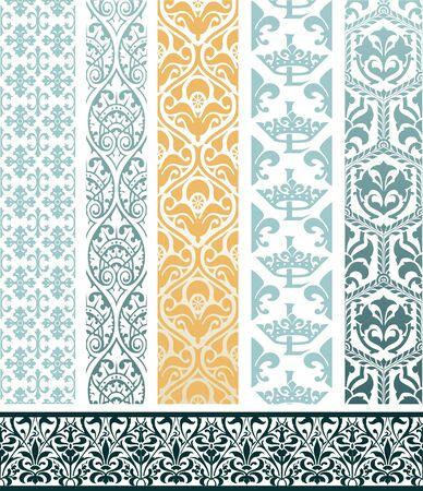 vintage borders: Vector. Design elements Illustration