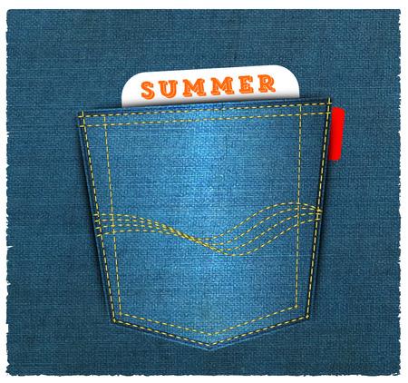 Blue back jeans pocket Stock Photo