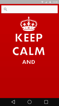 keep calm poster with crown into smart phone template Vector