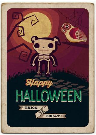 Poster van Halloween. Vector illustratie Stock Illustratie