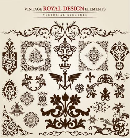 gothic design: flower vintage royal design Illustration
