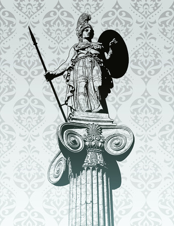 greek god: Statue of Athena