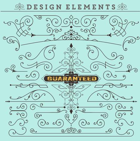 Vector. Vintage Ornaments Decorations Design Elements.  Vector stock  イラスト・ベクター素材