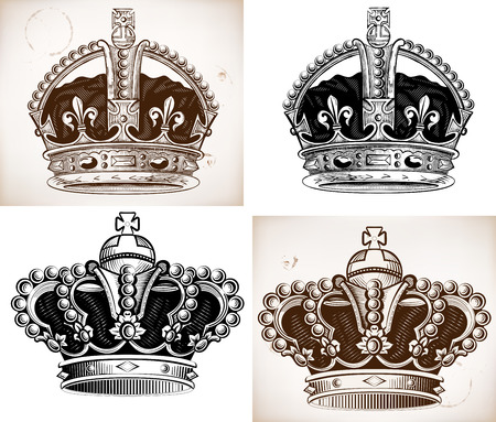 Crowns set. Vector file Vector