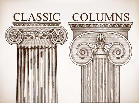 arte greca: Classica colonna sfondo set