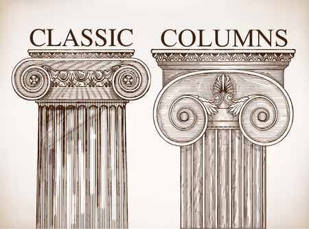columnas romanas: Columna cl�sica de fondo conjunto