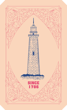 organized: Lighthouse card. Organized by layers