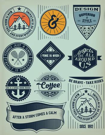 insignias: Vector. Vintage Insignias